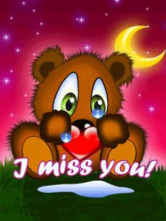 Miss You Animated Gif - Page 1 Images, Pictures, Photos I Love You Images, Love Heart Images, Love You Gif, Cute Love Gif, I Miss You Cute, Miss U My Love, Miss My Mom, Tu Me Manques, Teddy Bear Quotes