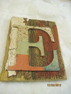 Barnboard Letter Initial Wall Decor