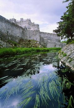Cahir Castle, Ireland. Walk with the peasants or heft the heavily crowned head.