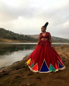 Zulu Traditional Attire, African Traditional Wedding Dress, African Fashion Traditional, Traditional Wedding Attire, Traditional Dresses, African Wedding Attire, African Attire, African Wear, African Dress