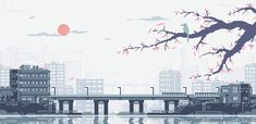 """pixeloutput: """"View over a Japanese City by LennSan 