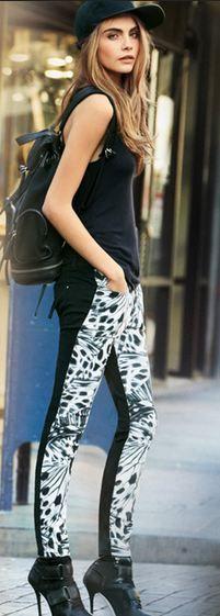 Cara Delevingne DKNY Jeans Spring 2013