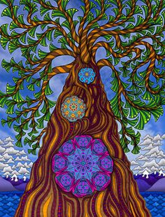 trippy tree psychedelic Psychedelic art