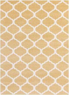 Surya Horizon HRZ1077 Yellow/Neutral Geometric Area Rug