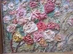 Exquisite OOAK 1920's Silk Ribbonwork Rose by VannasArmoire, $128.00