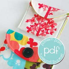 Earbud and iPod mp3 pouch case sewing pattern