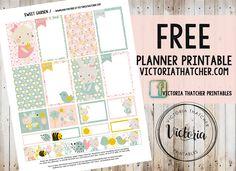Free Printable Sweet Garden Planner Stickers from Victoria Thatcher