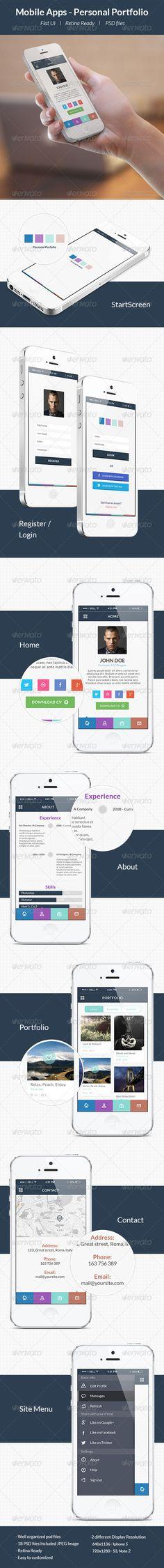 Personal Portfolio App - User Interfaces Web Elements