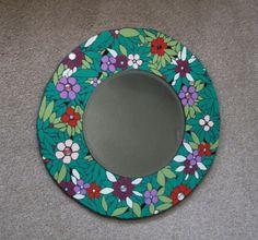 Unique mosaic mirror; Tiffany-inspired design   handmadebyhippo MISI Handmade Shop