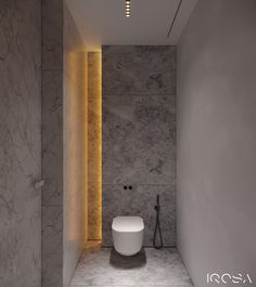 Smoky Grey Interior With Warm Ambient Lighting Small Toilet Design, Small Toilet Room, Modern Toilet Design, Wc Design, Design Moderne, Bathroom Spa, Small Bathroom, Toilette Design, Bathroom Design Luxury