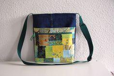 Canvastaschen - Tasche Jeanstasche Umhängetasche mit Batik - ein Designerstück von Naehwittchen bei DaWanda