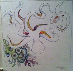 Pieuvre de Pierre (c)AP/2015 crayon, aquarelle et stylo