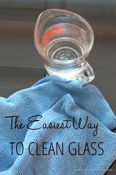 The easiest way to clean glass... we've tried it all and this is the absolute best way to keep the glass clean in your home!  www.findinghomeonline.com