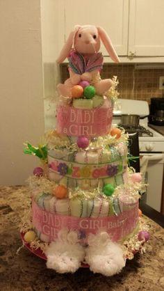 Easter themed diaper cake by me Mari Veloz :)