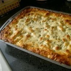 Best Ziti Ever ~ Easy casserole with pasta, Italian sausage, ricotta, mozzarella, & marinara sauce. Makes 13 x 9 pan.