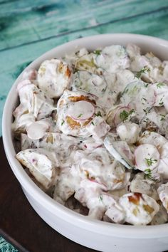 Cremet Kartoffelsalat Med Skinke, Radiser, Agurk Og Dilddressing – One Kitchen – A Thousand Ideas