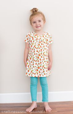 Strawberry hopscotch tunic - craftiness is not optional