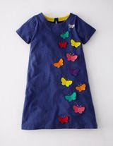 Butterfly Appliqué Dress/ Boden
