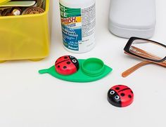 Ladybug Contact Lens Holder | 43 Impossibly Cute Products You'll Actually Use