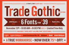 Trade Gothic Flash Sale