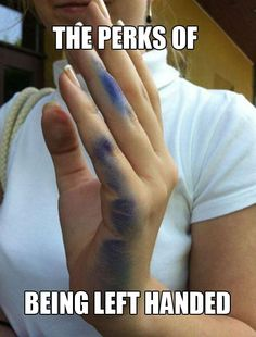 Oh my gosh, this is the bane of my existence!! Any other lefties feel the pain??
