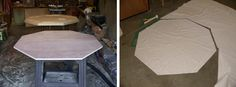 Woodworking Plans Reviewed: How to Build a Poker Table - Step by Step Instructions Poker Table Diy, Poker Table Plans, Octagon Poker Table, Pine Trim, Plywood Sheets, Woodworking Tips, Woodworking Machinery, Table Games, Home Projects