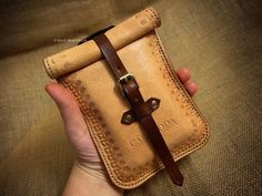 Tarot leather bag, leather pouch, case, tarot cards, Rider Waite universal size antique finish