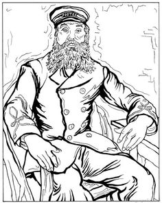 coloring page Vincent van Gogh Kids n Fun httpwwwkids n fun