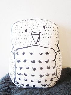 Owl pillow by a a m s, via Flickr