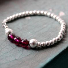 $59.3 SKU: 884317 #MrTree #Jewelry #JewelryDIY #Bracelets --- Materials:S925 beads + Rose Garnet / Size:Length:17CM http://www.pinterest.com/boutiques  - keywords: diy jewellery, monet jewelry, hello kitty jewelry, turkish jewelry,