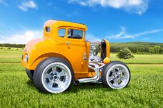 """""""Hi Skool Sweetheaty"""" 1931 Ford Coupe, Submitted by Larry Hill of Hawkestone, Ontario Car Chevrolet, Chevy, Smart Car Body Kits, Microcar, Weird Cars, Pedal Cars, Cute Cars, Car Tuning, Small Cars"""