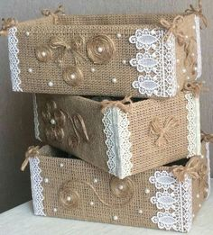 19 Handicrafts and handicrafts with burlap - I do it myself Jute creates ideas for Christmas!Jute creates ideas for Christmas! by Vinita ❤️❤️ - Musely(no title) 19 Handicrafts and handicrafts with burlap - I do Burlap Crafts, Diy Home Crafts, Decor Crafts, Crafts To Make, Arts And Crafts, Handmade Crafts, Home Decor, Decoration Shabby, Wedding Centerpieces Mason Jars