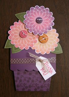 MWH: First artwork post - flower pot cards!
