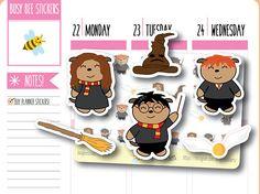 Harry Potter Planner Stickers Harry Potter Sorting Hat Harry Potter Planner, Harry Potter Sorting Hat, Harry Potter Stickers, Personal Planners, Busy Bee, Erin Condren, Travelers Notebook, Filofax, Planner Stickers