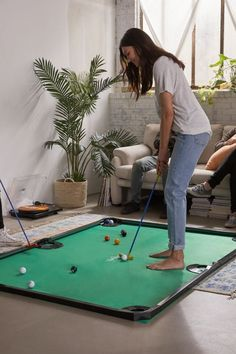 Putt-putt meets pool with this mat that combines your favorite elements of both games of precision. Comes with game mat, 16 golf balls featuring pool markings and 2 putters. Diy Yard Games, Lawn Games, Backyard Games, Golf Party Games, Backyard Trampoline, Pool Backyard, Garden Games, Backyard Ideas, Urban Outfitters