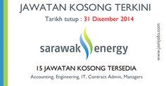 15 jawatan kosong Sarawak Energy terkini bulan Disember 2014. #jawatankosongsarawakenergy #kerjakosongsarawakenergy
