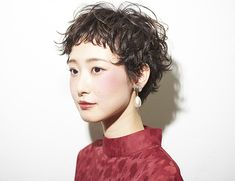 Haircuts For Curly Hair, Permed Hairstyles, Short Curly Hair, Short Hair Cuts, Curly Hair Styles, Curly Pixie, Pixie Cut, Japanese Short Hair, Japanese Hairstyle
