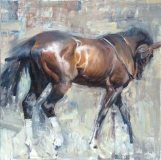 Horse painting by Quang Ho. Horse Oil Painting, Painting & Drawing, Knife Painting, Art Aquarelle, Watercolor Art, Horse Drawings, Art Drawings, Equine Art, Animal Paintings
