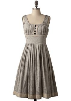 Love the style of this dress.neckline, bodice, waist and natural color