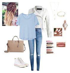 Casual Date Day by mking1224 on Polyvore featuring polyvore fashion style Splendid H&M Lodis Natalie B Olivia Burton Converse clothing