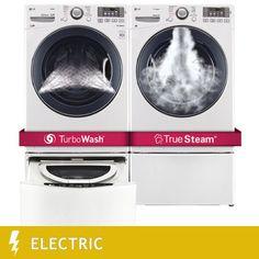 LG Twin Wash Ultra-Large Capacity 4.3CuFt TurboWash™ Washer w/SideKick Pedestal…
