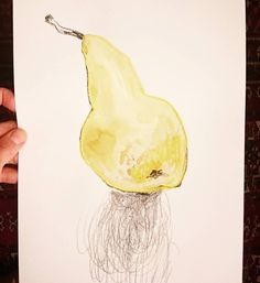 Tachán! Una #pera 'conferencia' ! Por no variar  Et voilà eine #Birne sortens Conference. Birne um in der Gang zu bleiben..  #fruitsillustration #pear #instapear #peardrawing #mixedmedia #minimal #Poster #etsyde #etsyshop #instaart #pearporn #handdrawn #Catilustre #ffm #pearlove
