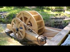 In this video I show how my water wheel works to produce power. Water Energy, Solar Energy, Solar Power, Water Wheel Generator, Water Turbine, Hydroelectric Power, Water Powers, Water Mill, Energy Projects