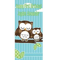 Personalized Owl Standee - Can be used as a background or at entrance of event. I can also add in painted color to match scheme!