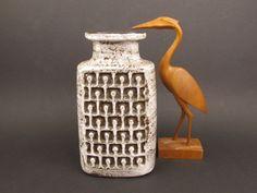 Vintage Vase Haldensleben mit Relief-Dekor aus den 70er Jahren, DDR - Vintage-retro - DDR-Keramik von ShabbRockRepublic auf Etsy