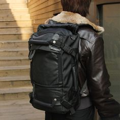 Cool 3way Black Useful Messenger Shoulder Duffle Bags Laptop Backpack Daypack | eBay