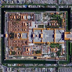Civilization in Perspective: Capturing the World From Above,Forbidden City, Beijing, China. Image Courtesy of Daily Overview. © Satellite images DigitalGlobe, Inc Chef D Oeuvre, Oeuvre D'art, Urban Fabric, Chinese Architecture, Beijing China, Ancient China, China Travel, Birds Eye View, Urban Planning