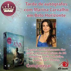 Tarde de autógrafos com Marina Carvalho, autora de Simplesmente Ana da Editora Novo Conceito em Belo Horizonte: http://www.leitoraviciada.com/2013/07/tarde-de-autografos-com-marina-carvalho.html
