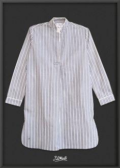 8ccb76ae88 Night-Shirt GREY I White I Black regimental stripes via P.Le Moult