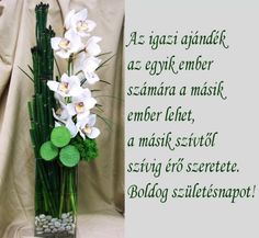 SZÜLETÉSNAPI KÉPESLAP - tanitoikincseim.lapunk.hu Happy Birthday Girlfriend, Happy Brithday, Name Day, Morning Greeting, Love Life, Ladder Decor, Quotations, Diy And Crafts, Glass Vase